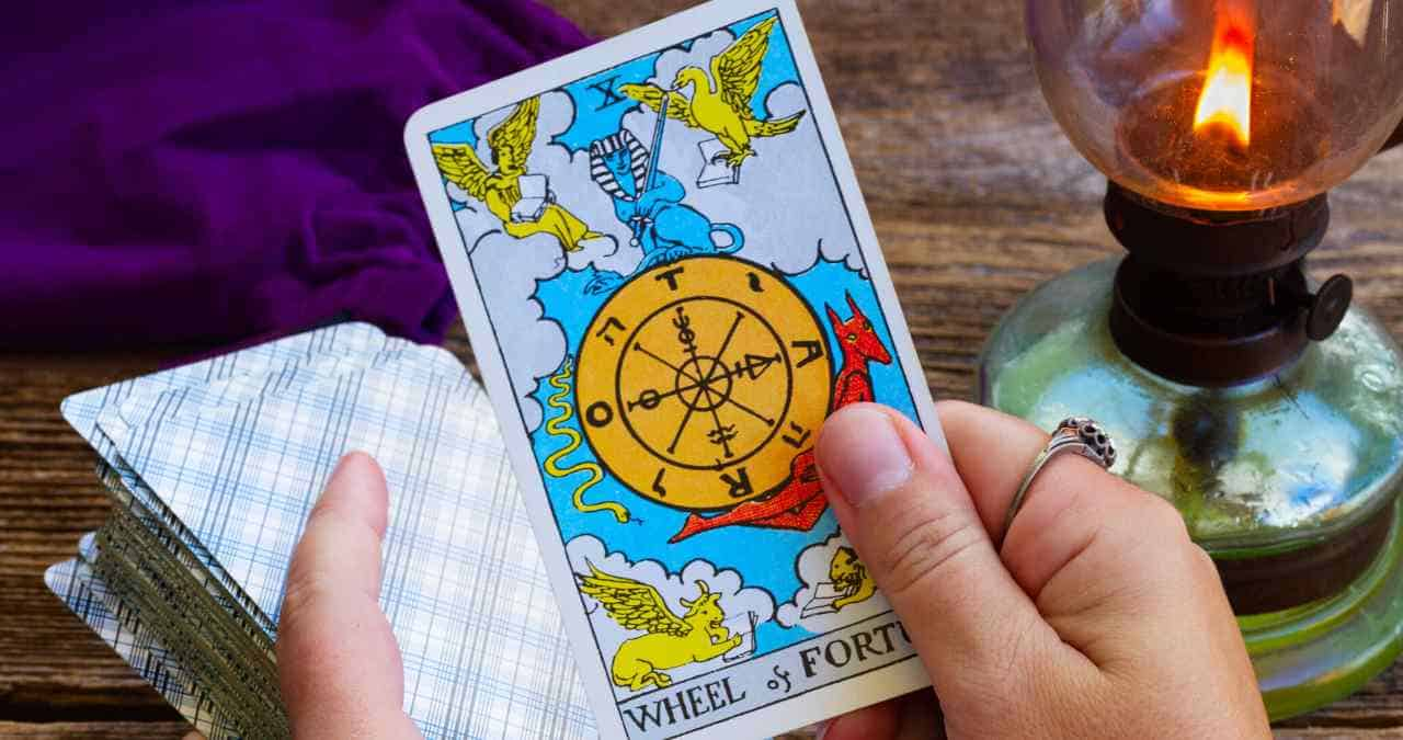 What is the meaning when a tarot card falls out of the deck?