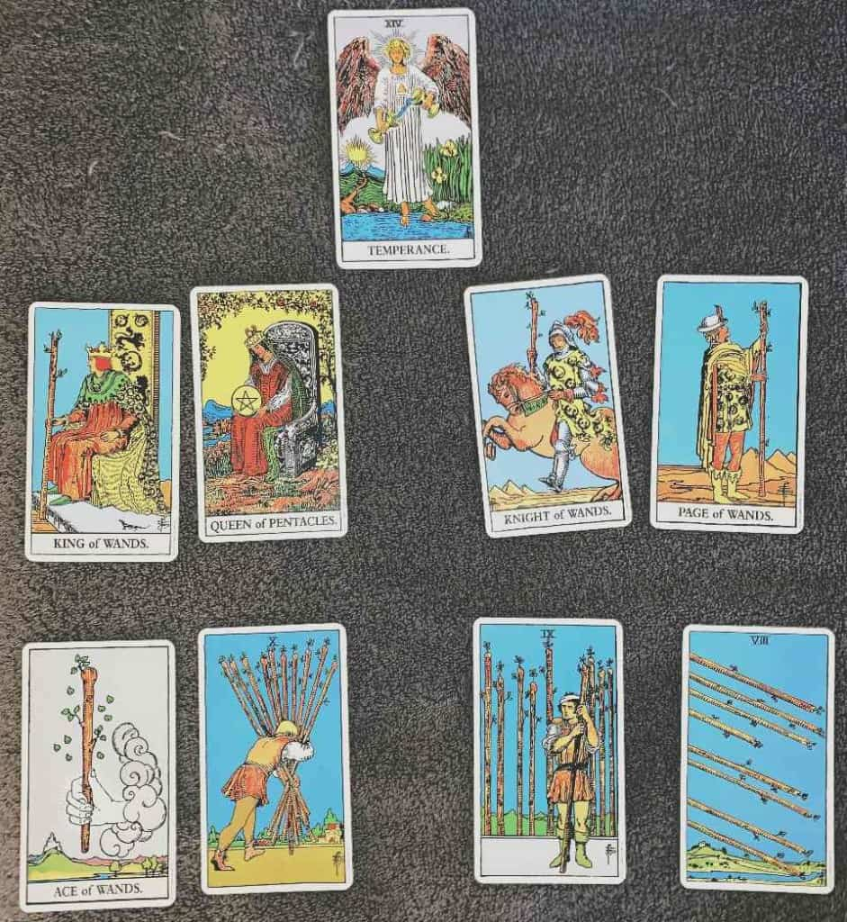 Which Tarot Cards are associated with Sagittarius