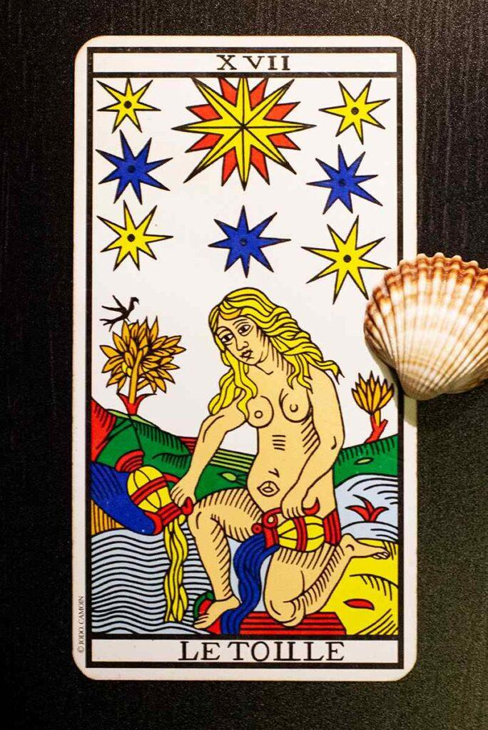 The Star (Marseille Tarot Deck)