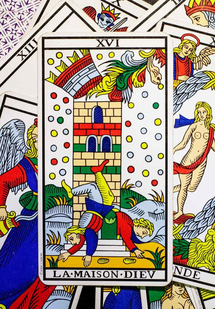 The Tower (Marseille Tarot Deck)