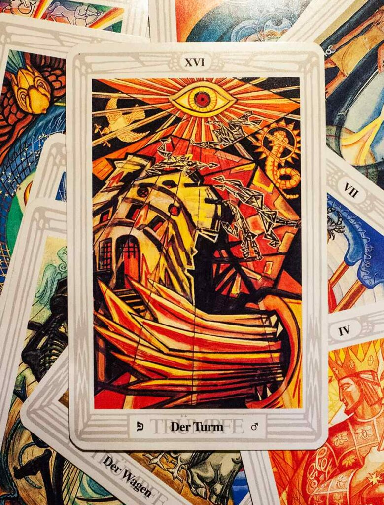 The Tower (Thoth Tarot Deck)