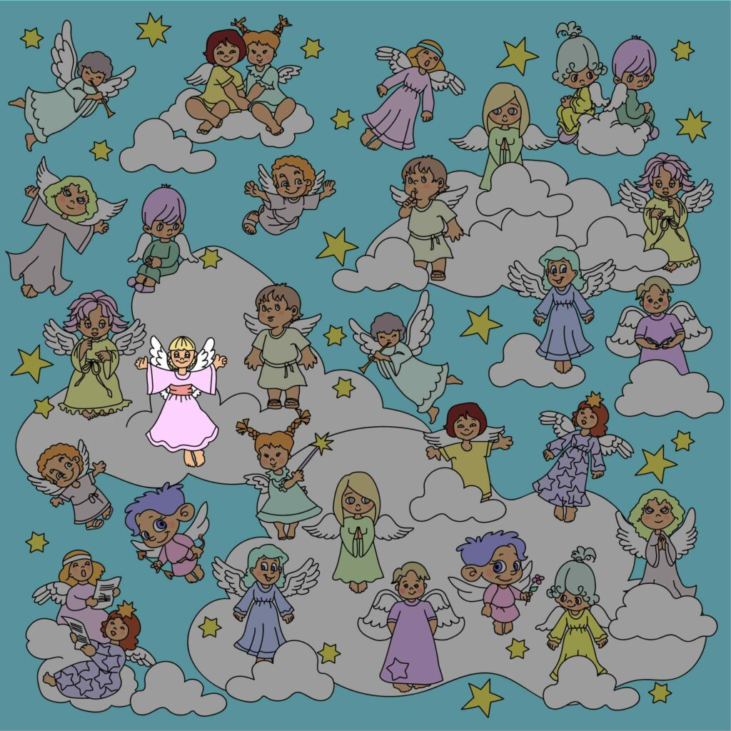 Find the angel without a pair (answer)