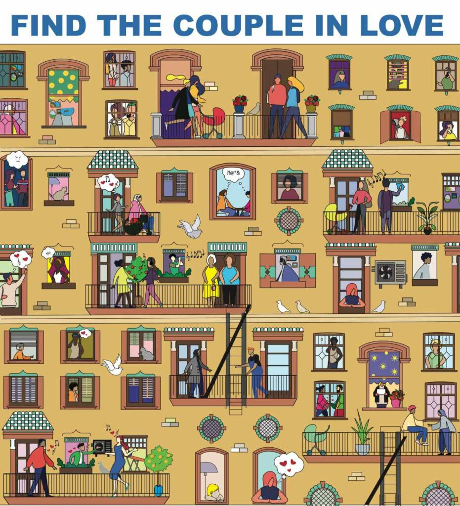 Find the couple in love!