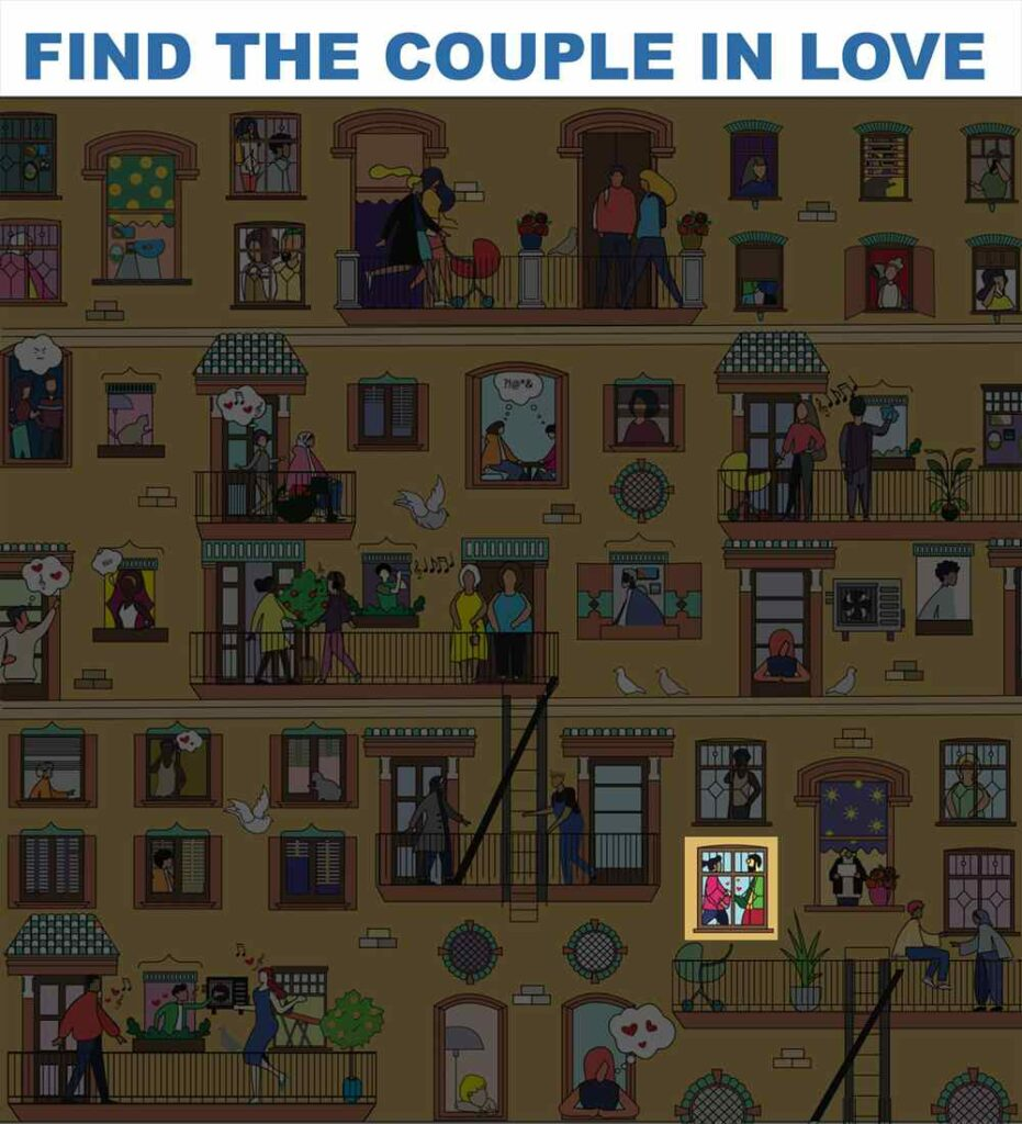 Find the couple in love - Answer